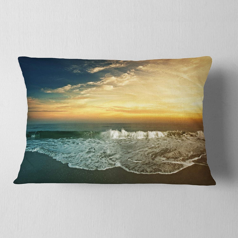12 x 20 Designart CU7212-12-20 Beach Panorama Landscape Printed Throw Pillow
