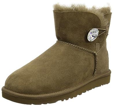 1002dda924d UGG Mini Bailey Button Bling, Women's Boots: Amazon.co.uk: Shoes & Bags