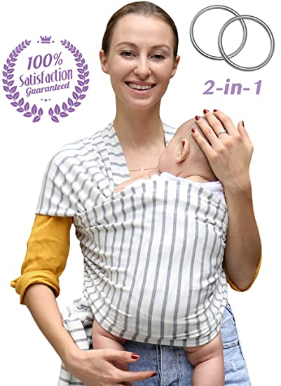 0282945d7b0 Amazon.com   Baby Wrap Carrier and Ring Sling for Newborn