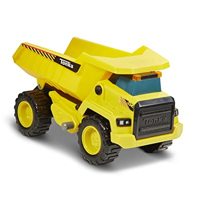 Tonka 8045 Power Movers Dump Truck Toy Vehicle, Yellow: Toys & Games