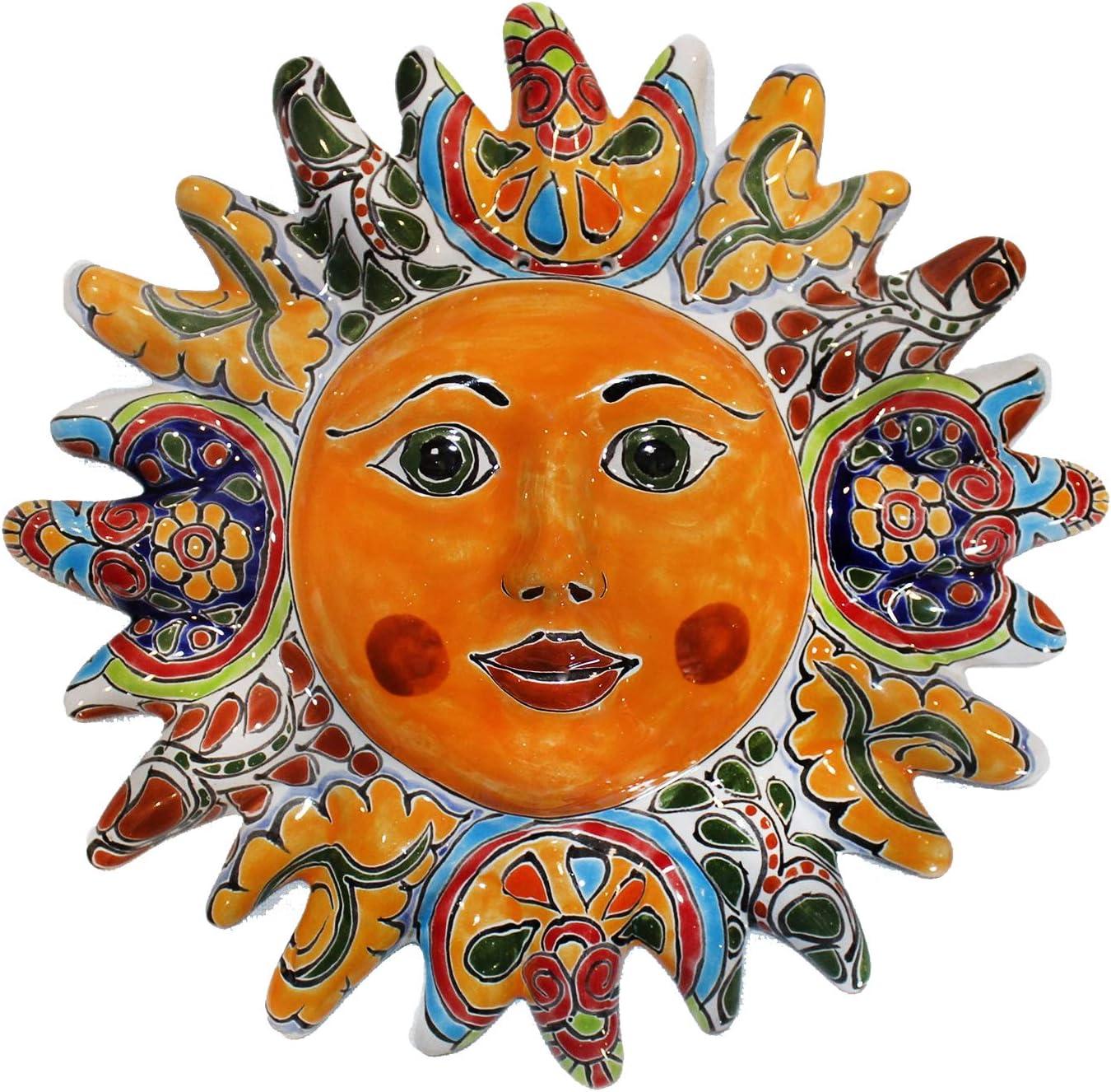 Tierra Fina Talavera Sun Face – 12 Diameter