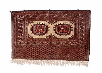 Nain Trading Pakistan 93x58 Orientteppich Teppich Dunkelbraun Rost