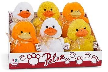 Globo Toys 6 Peluches de Pato Globo 83300 de 3 Colores, sentados y de 17