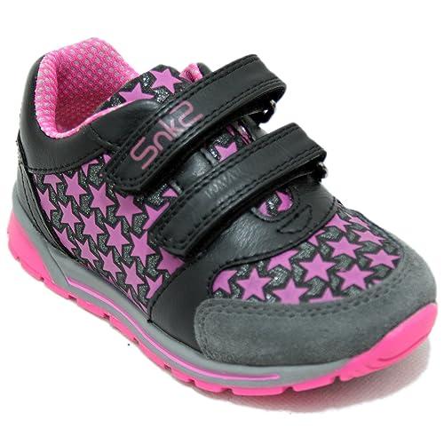 Chicco ZED - Zapatillas Deportivas Bambas con Dos Velcro Estrellas Fucsias: Amazon.es: Zapatos y complementos