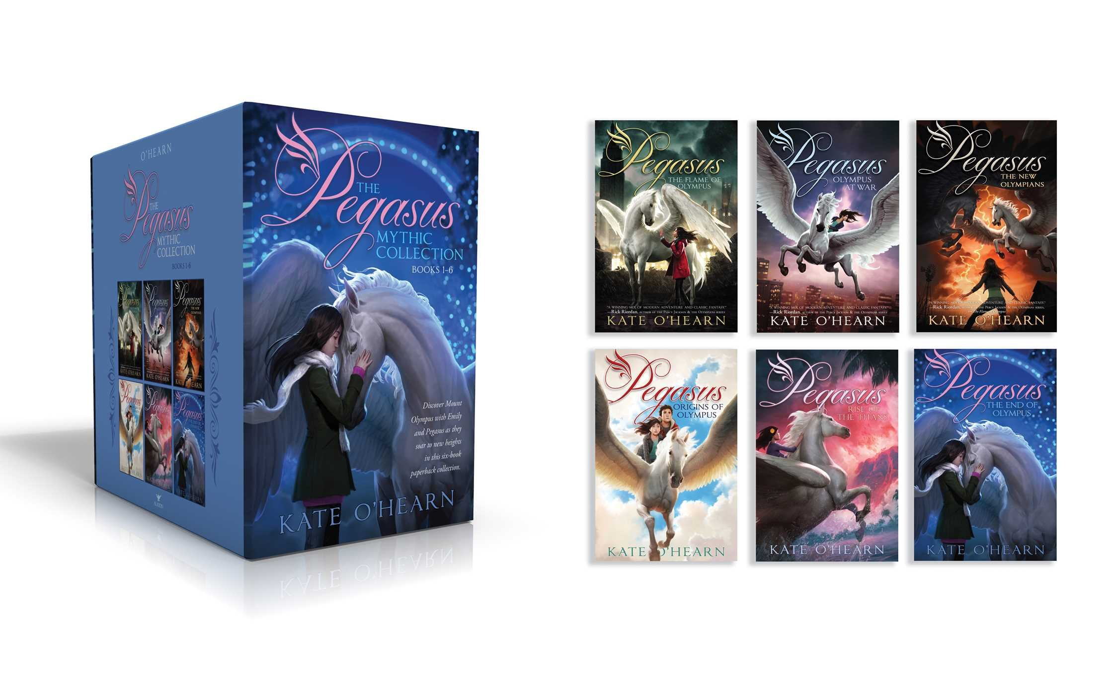 The Pegasus Mythic Collection Books 1-6: The Flame of Olympus; Olympus at War; The New Olympians; Origins of Olympus; Rise of the Titans; The End of Olympus by Aladdin (Image #2)