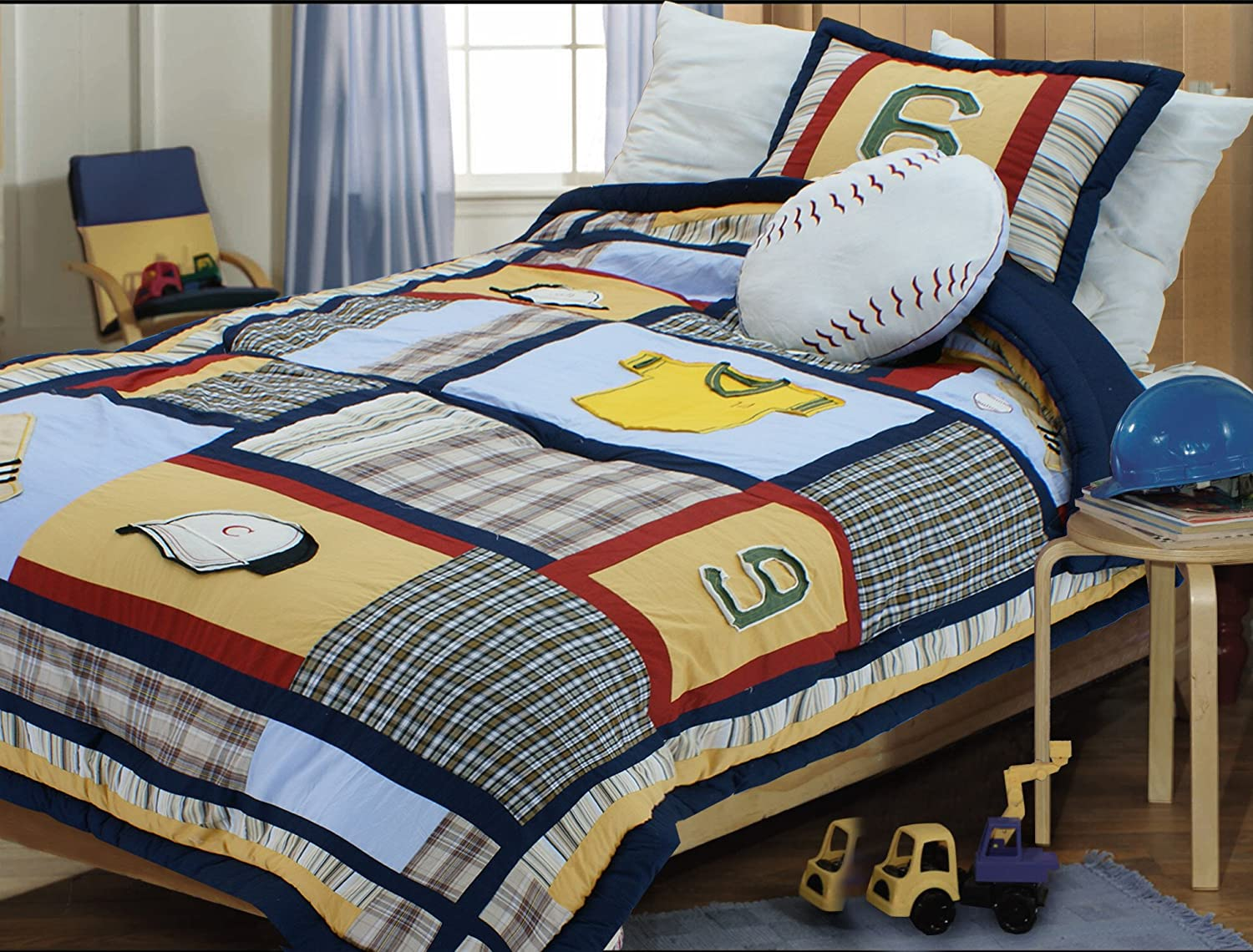 Amazon Textiles Plus 200 Thread Count Boys Baseball