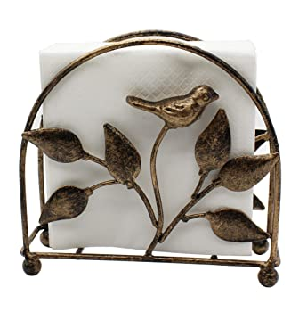 Cast Iron Bird & Tree Classic Napkin Holder