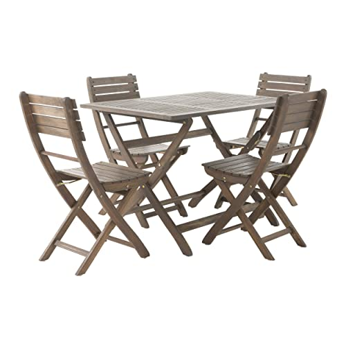 Christopher Knight Home 299808 Vicaro 5 Piece Wood Outdoor Dining Set Perfect