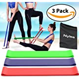 "3 Pack Resistance Exercise Workout Bands [FREE TRAVEL BAG] 12"" Latex - Best for Training, Pilates, Powerlifting, Stretching, Physical Therapy, Yoga, Rehab and Home Fitness [ULTIMATE FITNESS SET]"