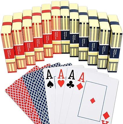 Stud Jumbo Index Playing Cards RED Poker Spielkarten Cardistry
