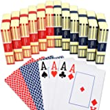 Teskyer Playing Cards, Poker Size Standard Index Playing Cards and Large Print Jumbo Index Deck of Cards, Linen Finish Surfac