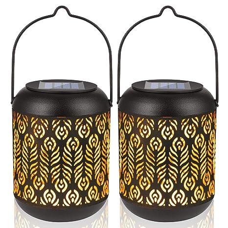 Outdoor Solar Power Waterproof LED Lantern Light Garden Landscape Yard Lamp