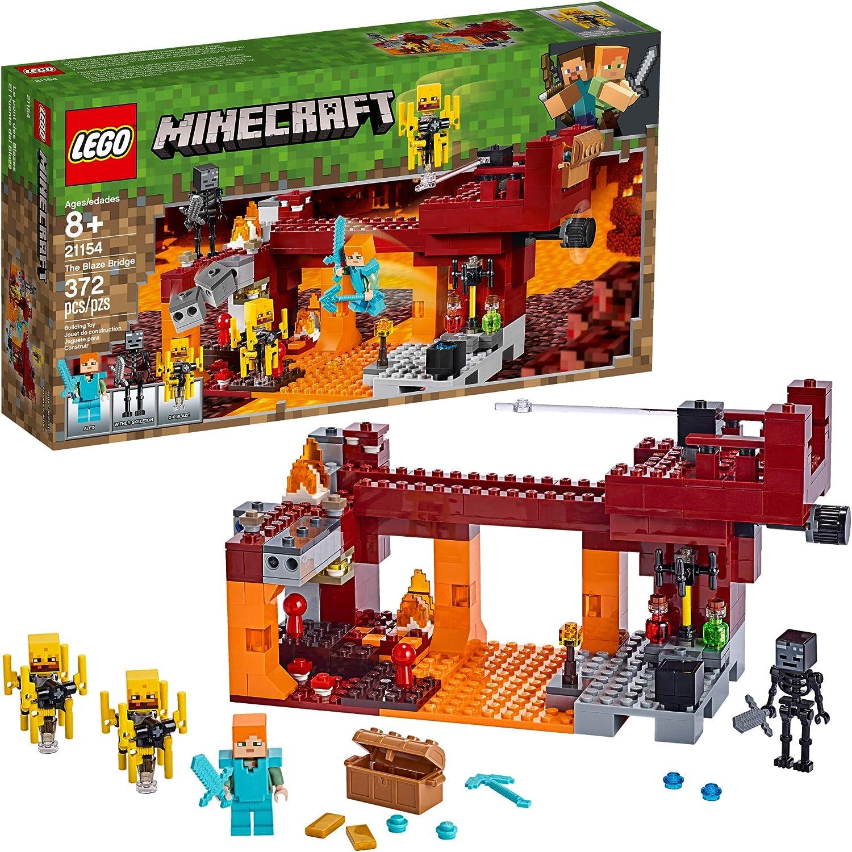 Amazon.com: LEGO Minecraft The Blaze Bridge 21154 Building Kit ...