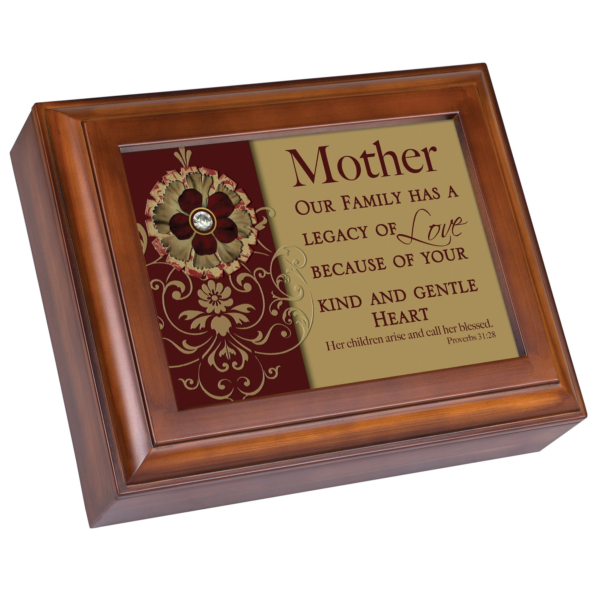 Cottage Garden Mother Watch Box Woodgrain Valet/Watchbox