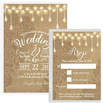 Personalized Wedding Invitations.Custom Rustic Wedding Invitation Set Set Of 25 Personalized Wedding Invitation Rustic Wedding