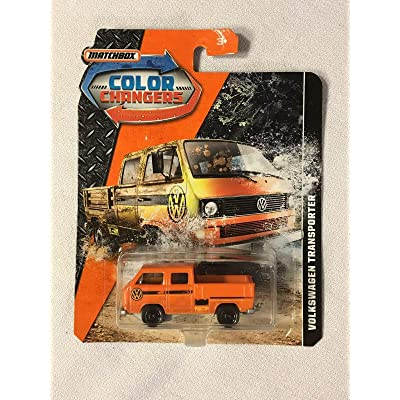 M.B. Matchbox Color Changers Volkswagen Transporter New Orange: Toys & Games