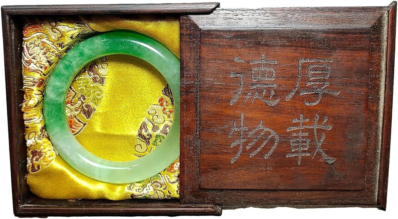 LAOJUNLU Un conjunto de pulseras de caja de madera con tallas de palisandro viejo Myanmar Old Pit Ice Jade pulseras antiguas obras maestras colección de solitario chino tradicional joyería