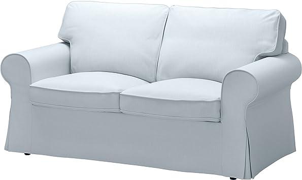 IKEA Original Ektorp Cover for Loveseat, (2-Seat Sofa) (Cover Only (Nordvalla Light Blue)