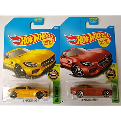 2020 Hot Wheels Hw Exotics 2/10 - '15 Mercedes-AMG GT [Yellow & Red]: Toys & Games