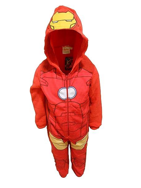 Iron Man - Pijama de una pieza - Manga Larga - para niño rojo rosso 7