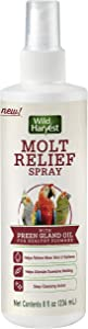 Wild Harvest Molt Relief Spray, for All Birds, with Preen Gland Oil for Healthy Plumage