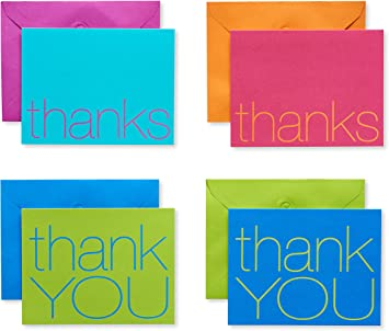 bright /& bold thank you pocket note card