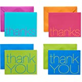 American Greetings Navy Blue Thank-You Cards and Brown Kraft-Style Envelopes 50-Count Multicolored