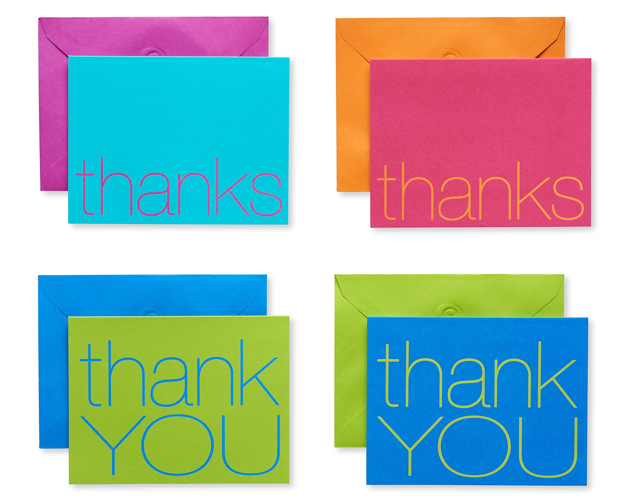 American Greetings Bold Multicolored Thank-You Cards and Multicolored Envelopes, 50-Count by American Greetings