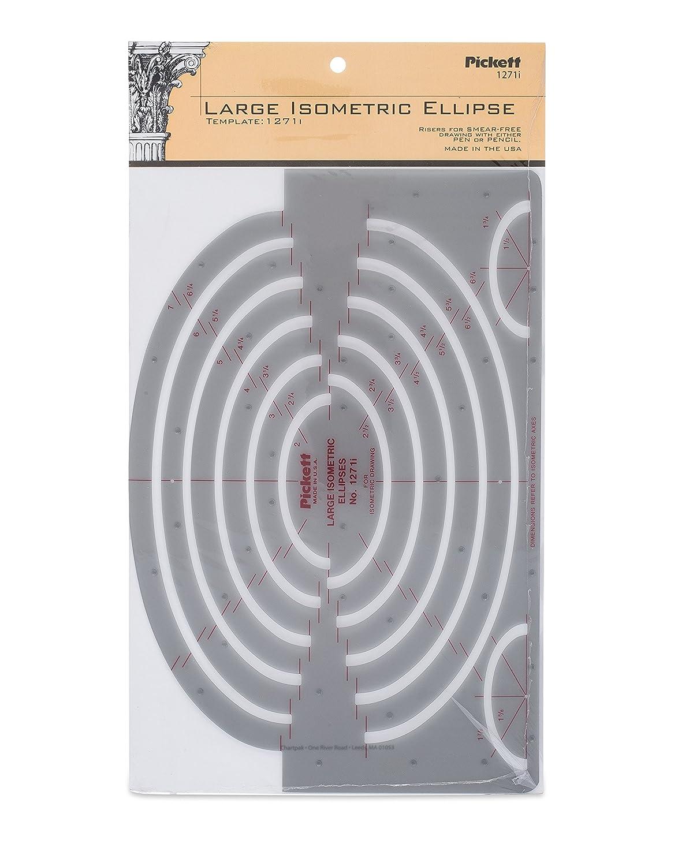 Amazon.com : Pickett Large Isometric Ellipse Template (1271I ...