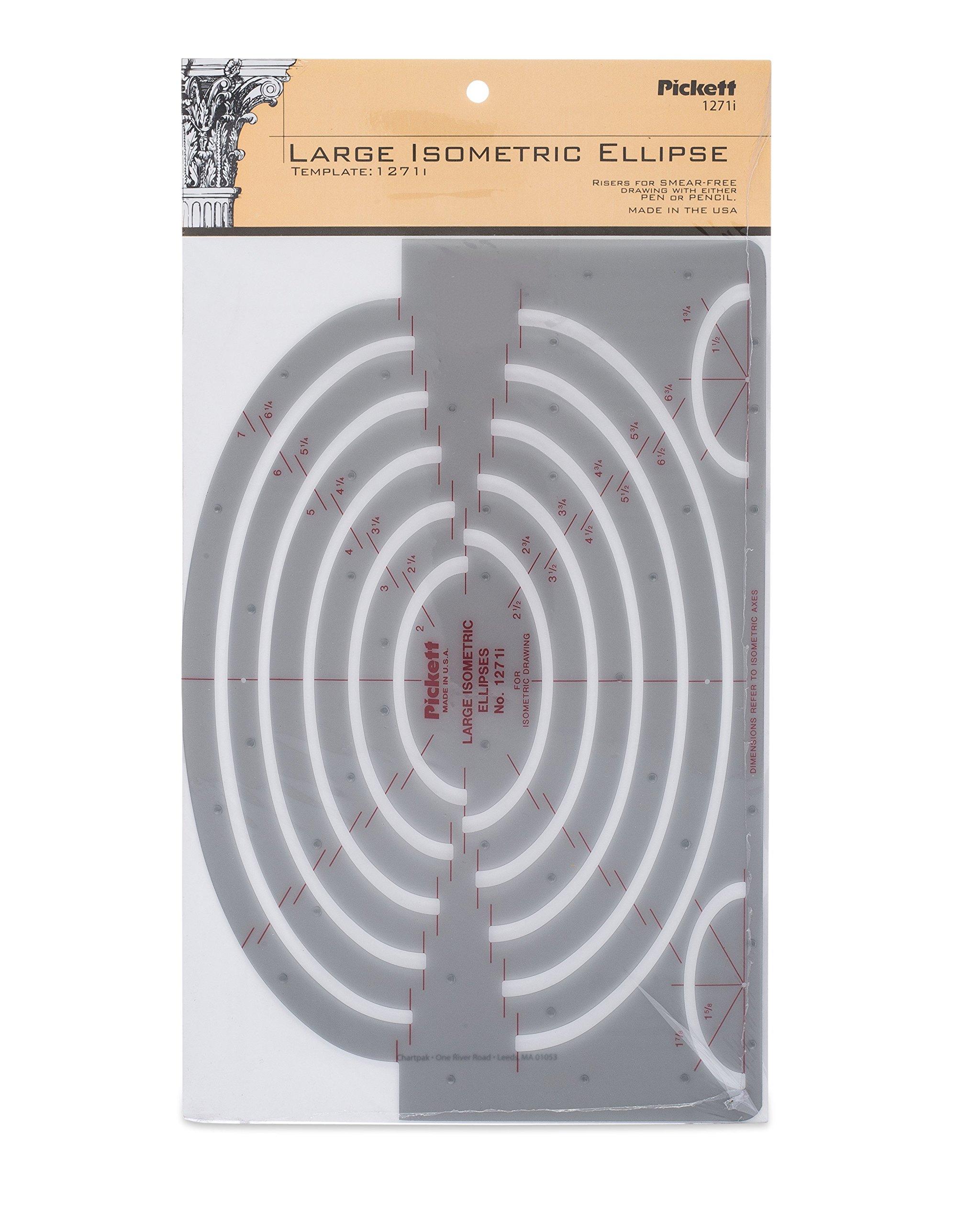 Pickett Large Isometric Ellipse Template (1271I) by Pickett