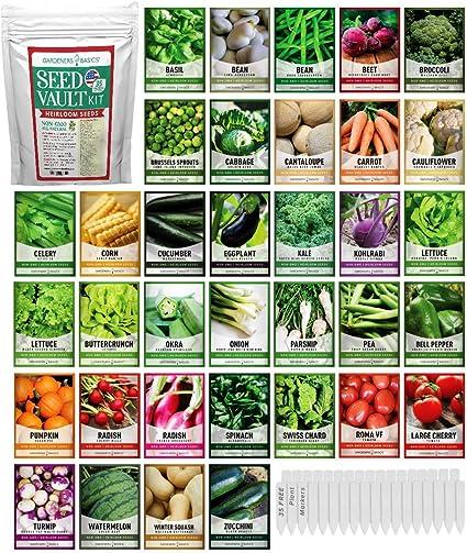 Heirloom Vegetable Garden Fruit Seeds Non Gmo Hybrid Organic Survival Plant Bank