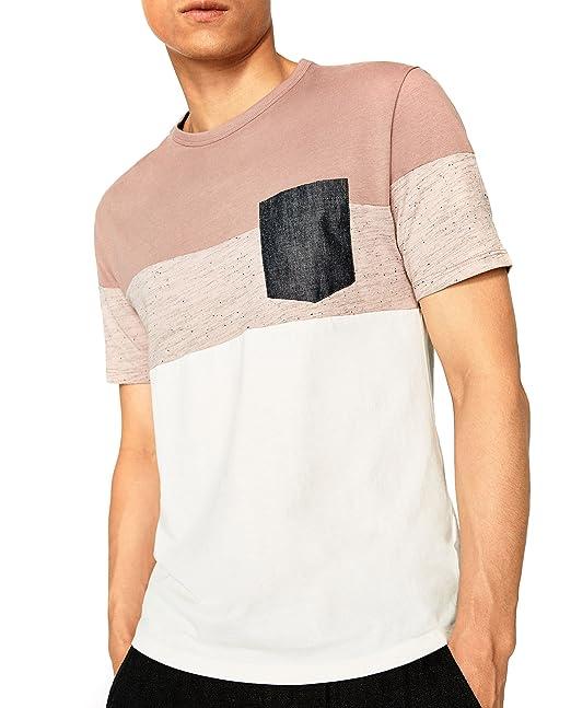 Zara - Camisa de vestir - para hombre rosa rosa Small: Amazon.es: Ropa y accesorios