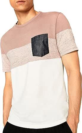 Zara - Camisa de vestir - para hombre rosa rosa Small: Amazon ...