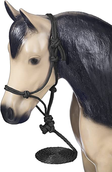 Tough-1 Miniature Horse Nylon Poly Rope Tied Halter Fully Adjustable