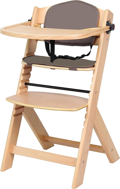 chaise haute pliable avec plateau pour b/éb/é enfant en bas /âge VEEYOO chaise haute portable pour b/éb/é gris chaise haute pour manger avec /étui de transport