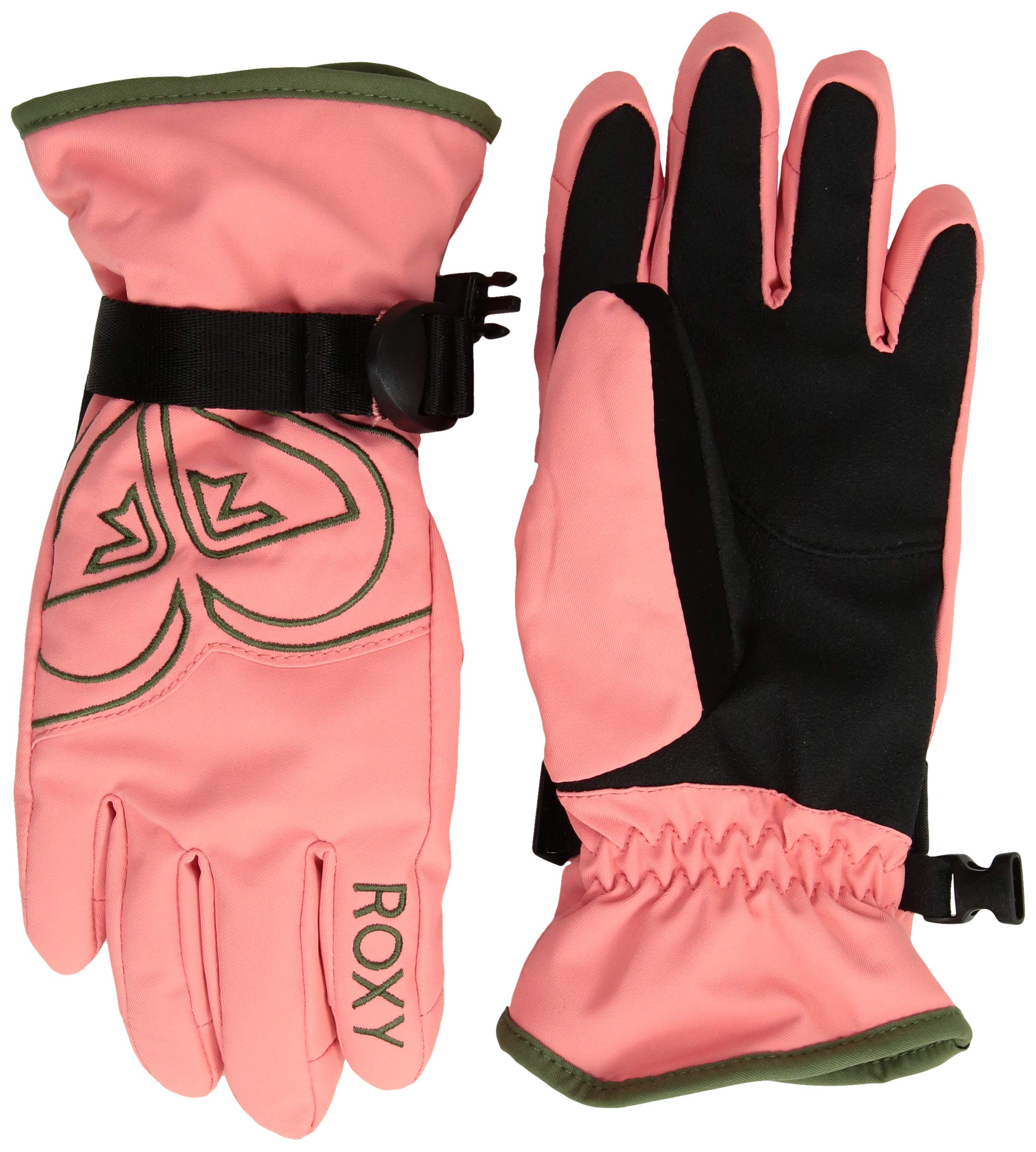 Roxy Little Girls' Poppy Snow Gloves, Shell Pink, S by Roxy