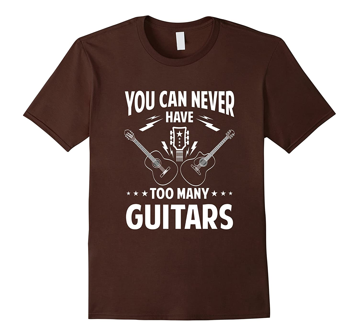 YOU CAN NEVER HAVE TOO MANY GUITARS rock band T-Shirt-RT