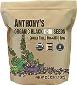 Anthony's Organic Chia Seed, 2.5 lb, Gluten Free, Vegan, Raw, Keto