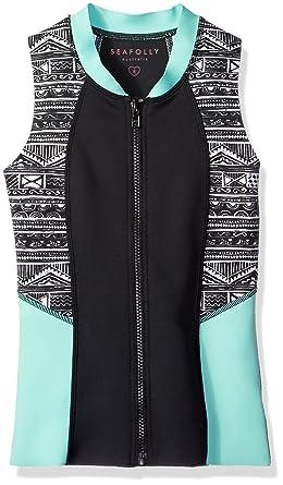 efa76f683273d7 Amazon.com  Seafolly Big Girls  Native Surf Zip Front Vest