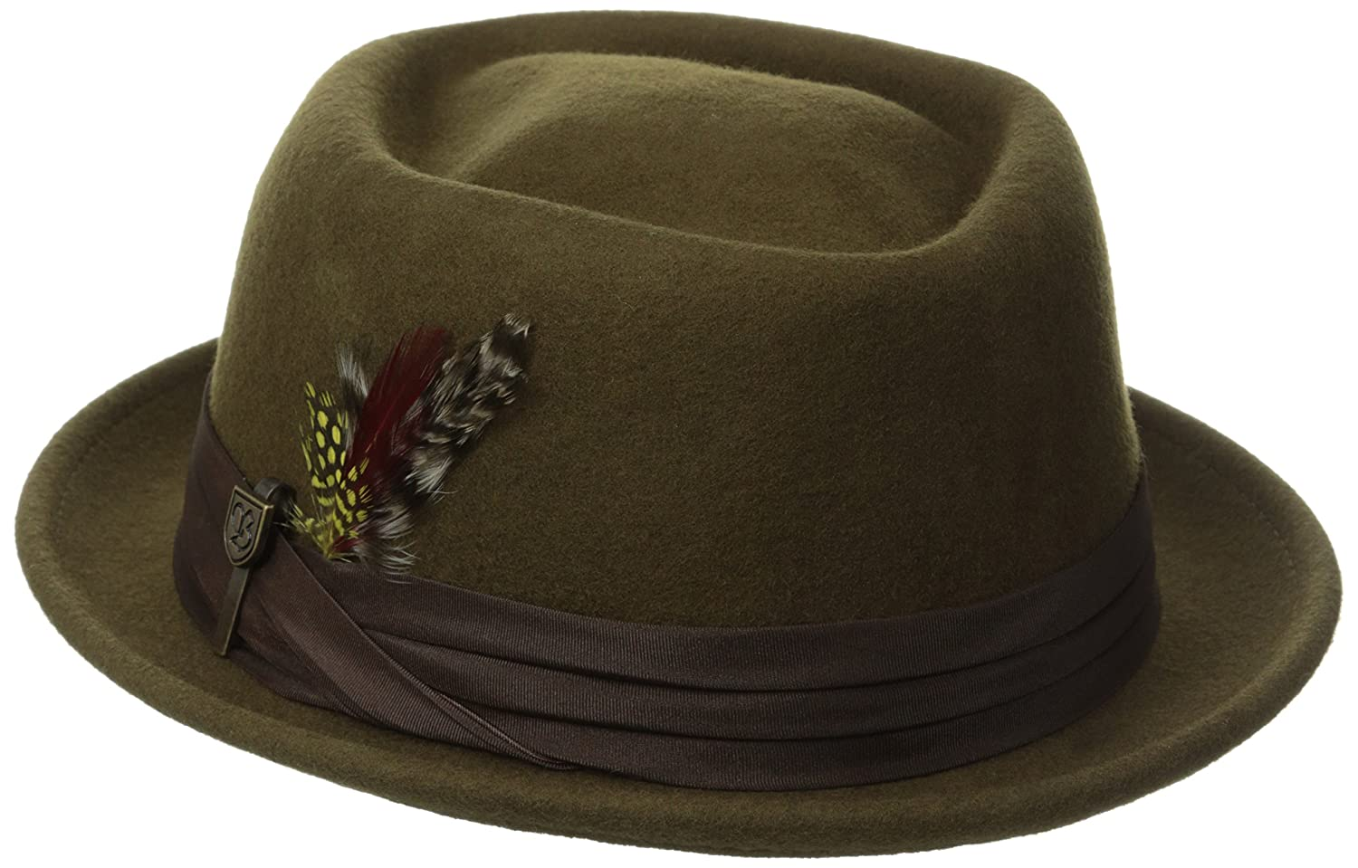 2cfb5a767f69e Amazon.com  Brixton Men s Stout Pork Pie Hat  Clothing