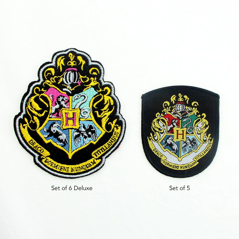 Cinereplicas Official Applique Iron on Patches 4 Harry Potter Crest Set