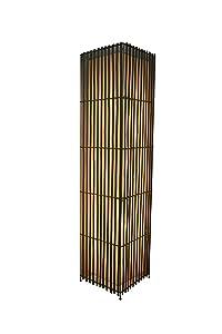 Interfan Lámpara de Pie, Diseño Piano E27, Marrón
