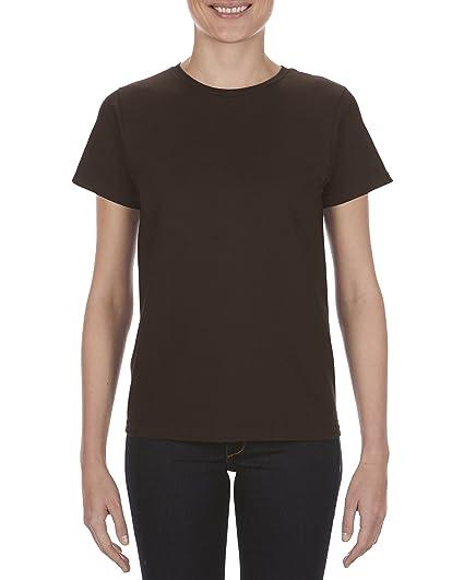 ddde08e6e8bf Alstyle Apparel AAA Women's Premium Soft Spun T-Shirt, Dark Chocolate, Large