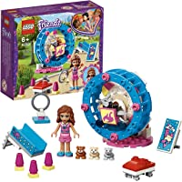 LEGO 41383 Friends Olivia's Hamster Playground Building Set, Olivia mini-doll and Hamster figure, Animal Toys for Kids