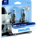Philips Automotive Lighting H1 CrystalVision Ultra Upgrade Bright White Headlight Bulb, 2 Pack, 12258CVB2