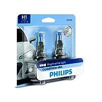 Philips H1 CrystalVision Ultra Upgrade Headlight Bulb, 2 Pack