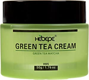 Hebepe Green Tea Matcha Face Moisturizer Cream for Dry Skin with Collagen, Cocoa Butter, Grapefruit, Vitamin C&E, Tangerine Peel Extract, Anti Aging Face Cream Reduce Appearance of Wrinkles&Fine Lines