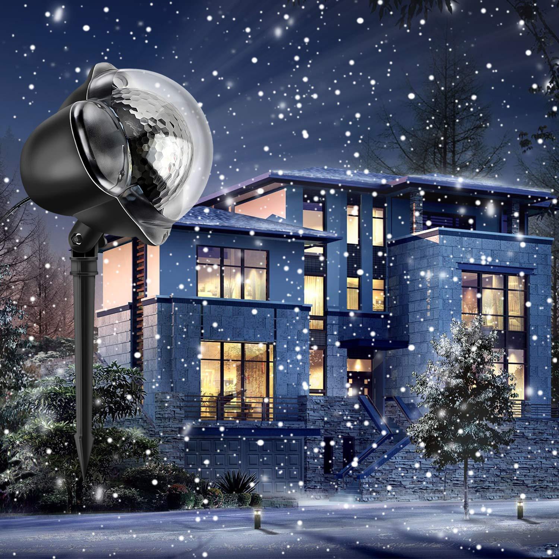 Luces de Proyección de Navidad Impermeable Copos de Nieve Luz de nevadas Navidad con Control Remoto para Año Nuevo Fiestas Cumpleaños Party Boda Navidad Jardín Patio Interior Exterior [Clase de eficiencia energética A+++] Wakana