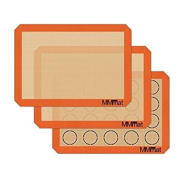 MMmat Silicone Baking Mat - German Silicone - Macaron Baking Mat - 3-Pack