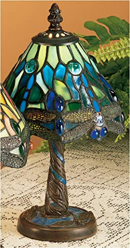 Tiffany Hanging Head Dragonfly Mini Table Lamp